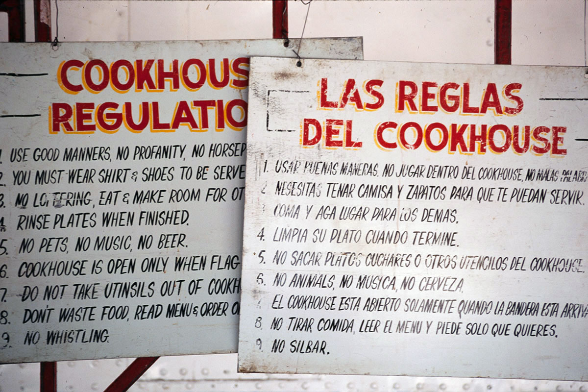 "At the Carson and Barnes Circus in 1995, ""no whistling"" was one of the cookhouse rules."