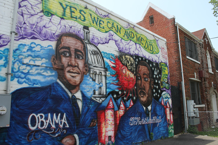 Mural on the side of the Nu Flava Ink Tattooz building in Congress Heights. Photo by Jennie Terman