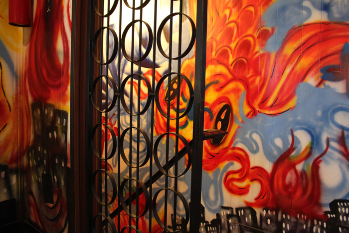 The graffiti mural in the entrance to Nu Flava Ink Tattooz in Congress Heights. Photo by Jennie Terman