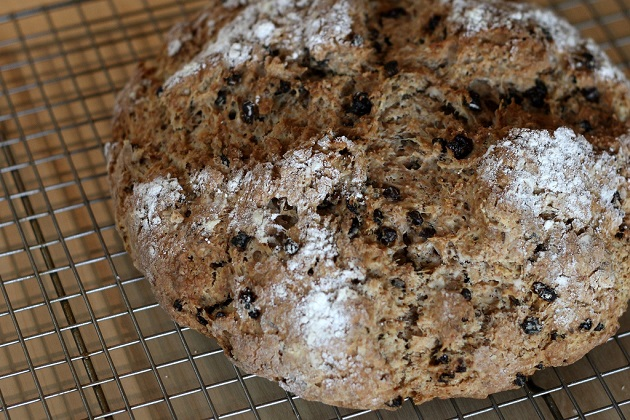 Irish soda bread, hot out of the oven. Photo by and courtesy of Flickr user Mike McCune