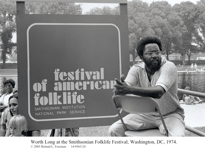 Worth Long at the 1974 Smithsonian Folklife Festival © 2005 Roland L. Freeman