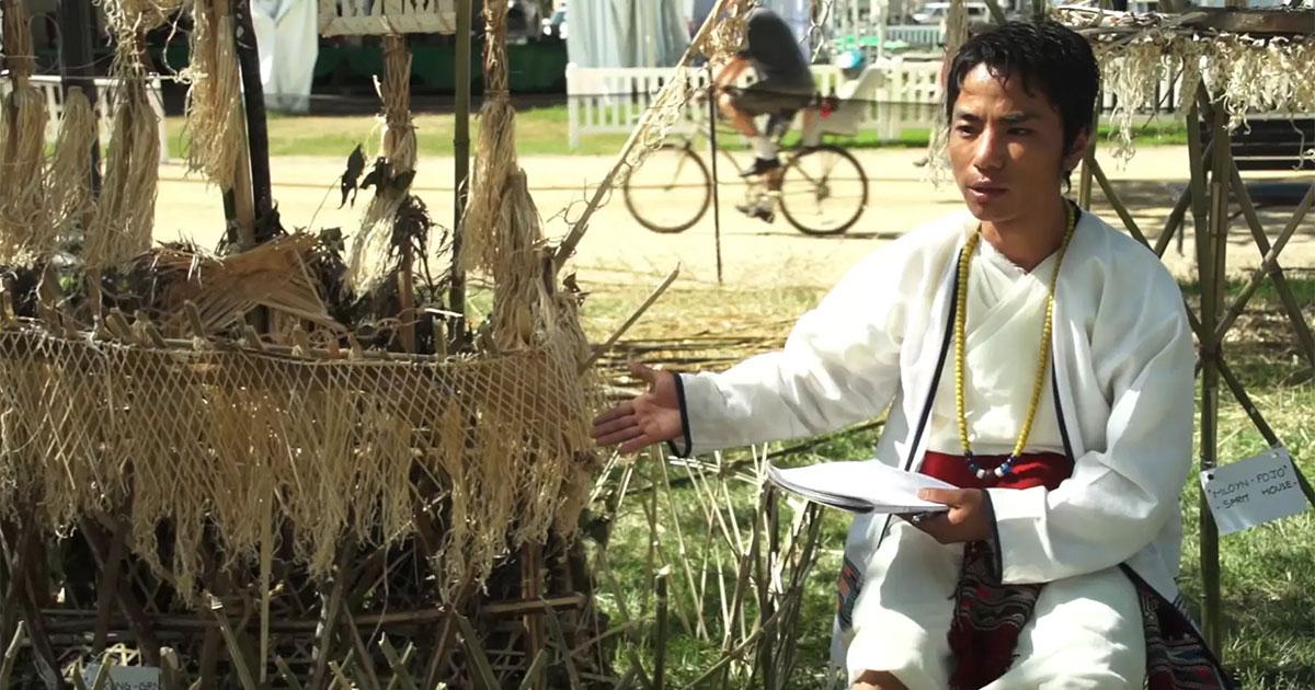 Native Koro-Speaker Khandu Degio on the Tradition of Building Bamboo 'Spirit Houses'