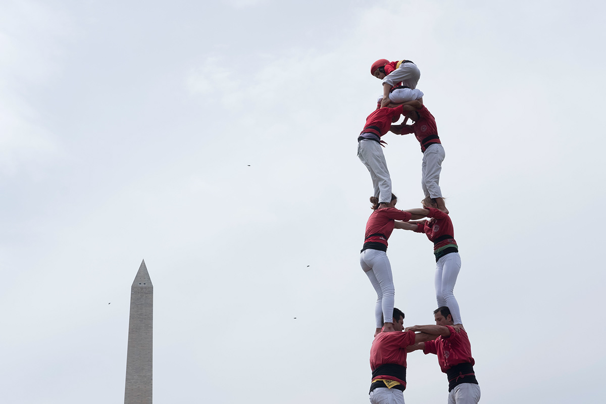 Human Towers on the National Mall