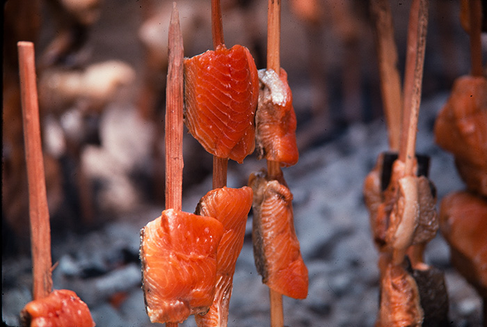 Native Foodways: Roast Salmon on Sticks