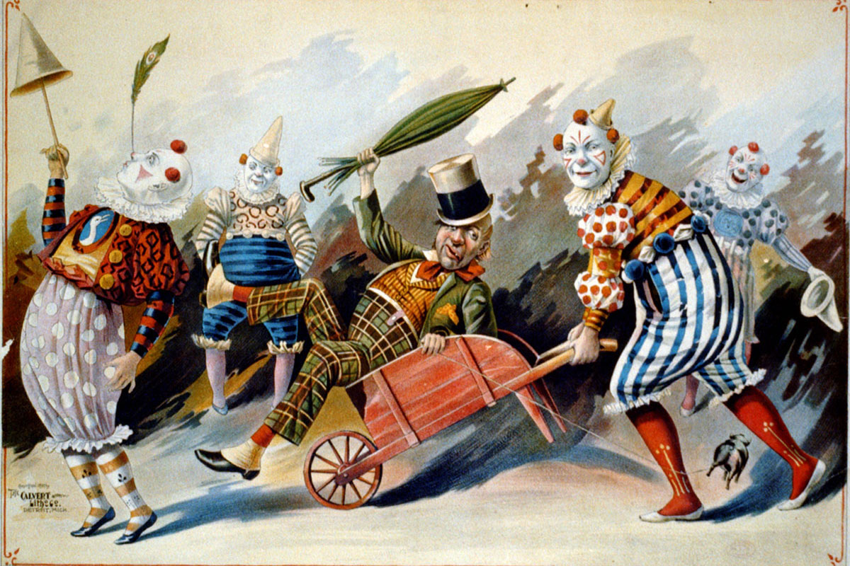 circus clowns History of circus performance in britain in the 19th century, and the development of circus acts, portable buildings and tenting.