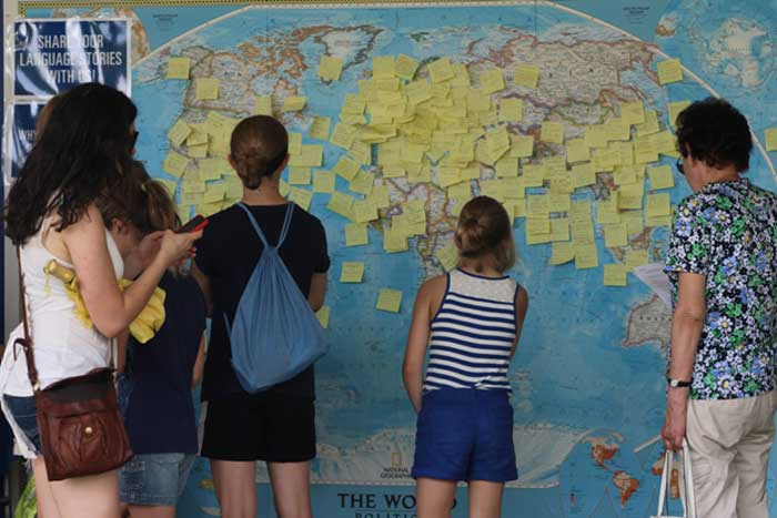 Visitors Put Their Languages on the Map
