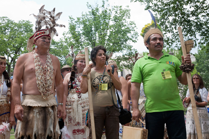 Greeting Each Other: American and Colombian Indigenous Peoples