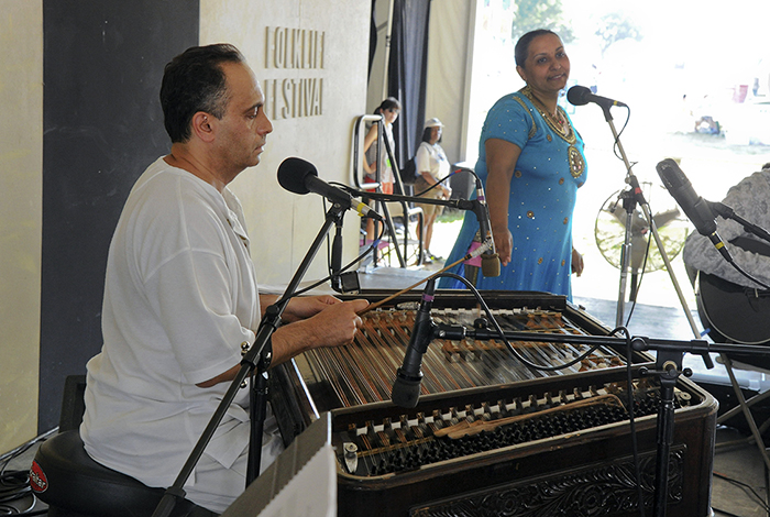 Cimbalom player Kálmán Balogh at the 2012 Smithsonian Folklife Festival. Photo by Harold Dorwin, Ralph Rinzler Folklife Archives
