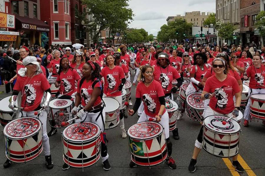 Batala is an all-female Afro-Brazilian percussion ensemble in Washington, D.C. Batala will perform as part of the 2019 Festival Afro-Bahia. Photo courtesy of Festival Afro-Bahia