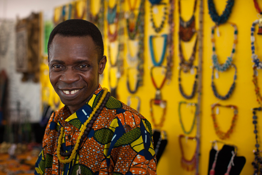 Ebenezer Nomoda Djaba of Cedi Beads. Photo courtesy of the artist