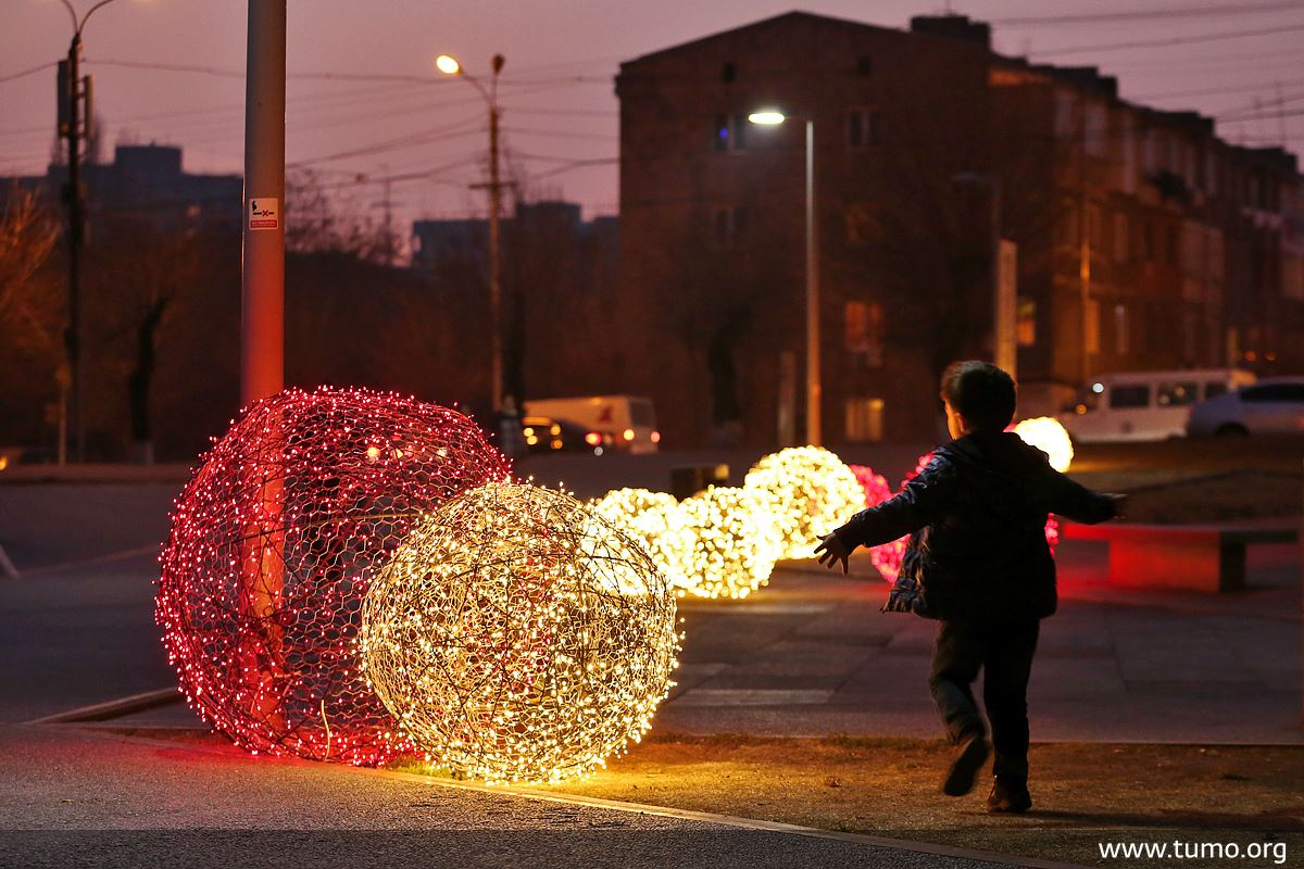 Christmas decorations in Yerevan. Photo courtesy of the Tumo Center for Creative Technologies.