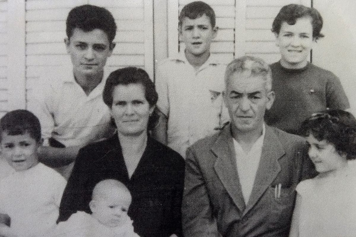 The Córdoba family shortly after they arrived in Navas, Catalonia, 1963. Maria Àngels stands on the far right. Photo courtesy of Maria Àngels Córdoba