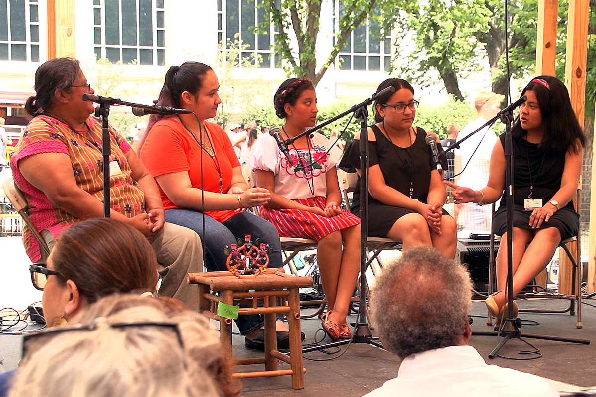 Girlhood on the Move session, July 2, 2017. Photo from video still, Ralph Rinzler Folklife Archives