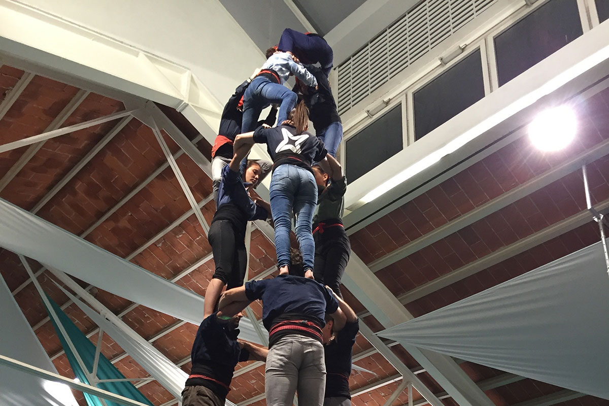 A Friday night practice with the Castellers de Vilafranca, one of the most famous human tower teams. <br><i>Photo by Michael Atwood Mason</i>