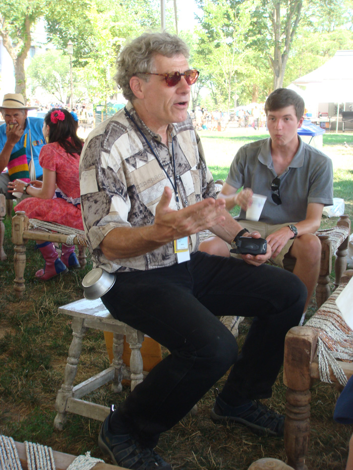 Peace Corps curator Jim Deutsch in the Festival's Participant Hospitality area.