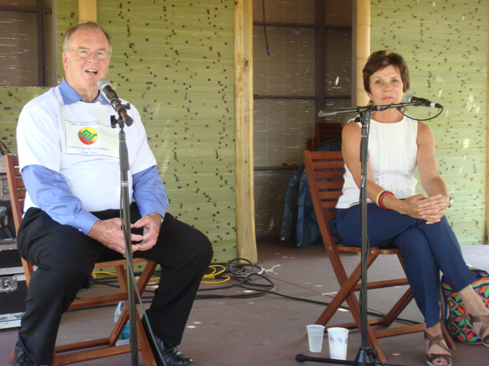 Congressman Farr and Maureen Orth on the Peace Porch