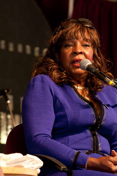 Miss Martha Reeves talked about her career and took questions from the audience before her performance