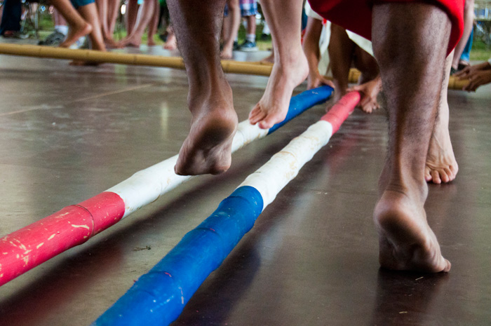 The Rehoboth Children's Home Dance Team perform tinikling, the national dance of the Philippines
