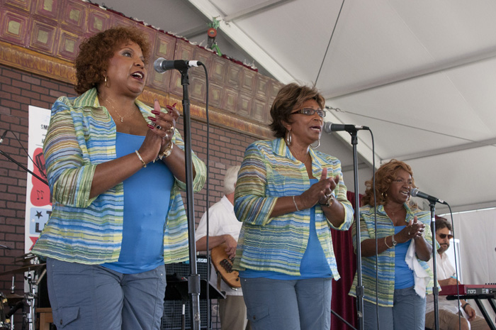 The Dixie Cups perform from the Soulsville Stage.