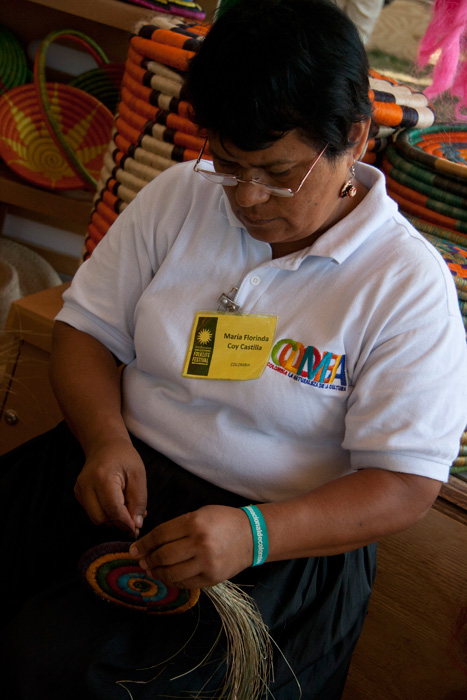 María Florinda Coy Castilla is a basket weaver from Sutamarchán in the Andean Highlands of Colombia.