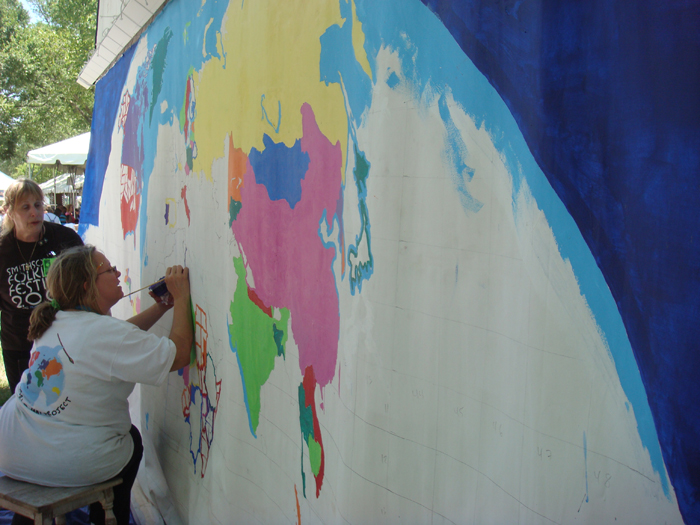 Barbara Jo White and the World Map Project at the Peace Corps program area