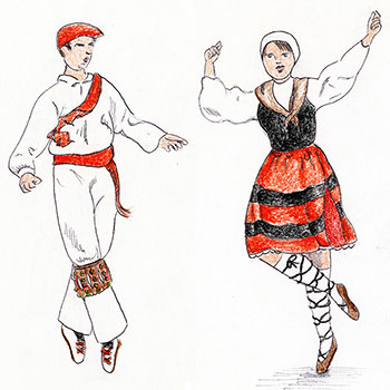 A Basque Dancer from Head to Toe
