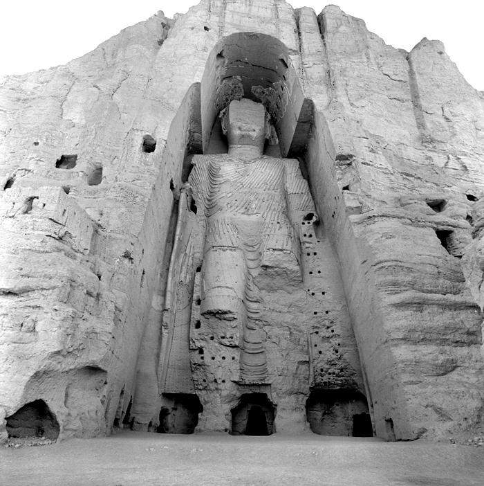 This monolithic Buddha towered 175 feet over the Bamiyan Valley north of Kabul, Afghanistan. The figure was destroyed under Taliban rule in March 2001.
