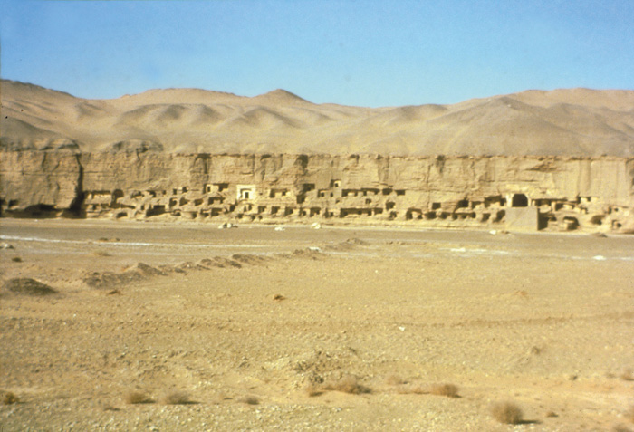 The Caves of the Thousand Buddhas near the modern town of Dunhuang are similar to other cave complexes along the Silk Road.