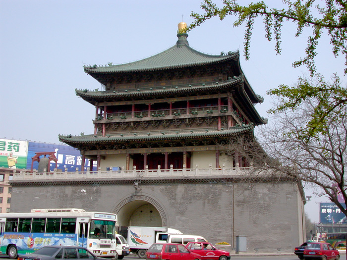 The central Bell Tower still towers over present-day Xi'an; known as Chang'an, the city was an ancient capital of China.