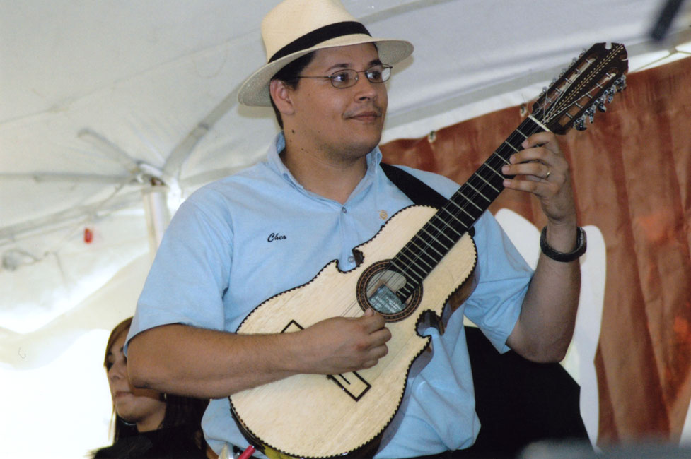 José Delgado forms part of the new generation of young Puerto Ricans that play the cuatro. The traditional instrument of música jíbara, the cuatro is a type of guitar.