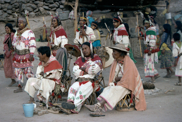 Wixárika shamans or marakames sit in special chairs called uwenes.