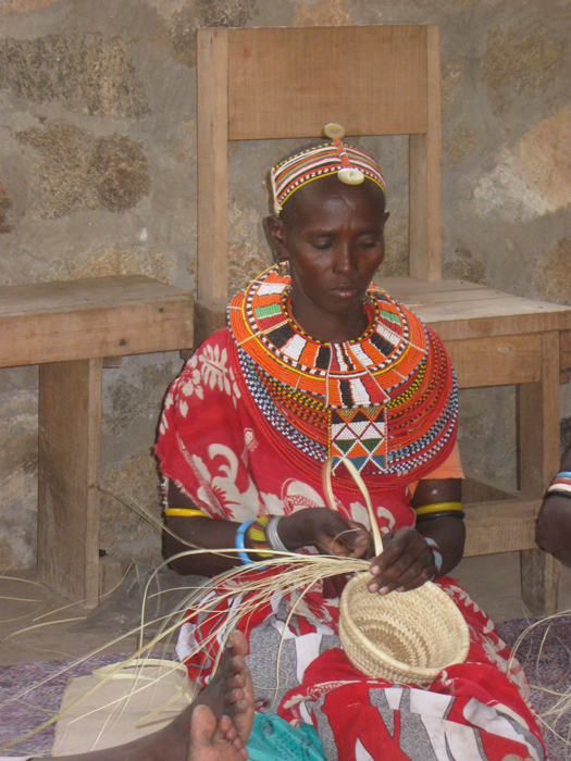 Master weaver Nkerisapa Lewano is an active member of the Ngurunit Basket Weavers Group in northern Kenya.