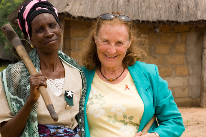 Peace Corps volunteer Mary Ann Camp (right) served three tours—in Lesotho, Malawi, and Botswana.
