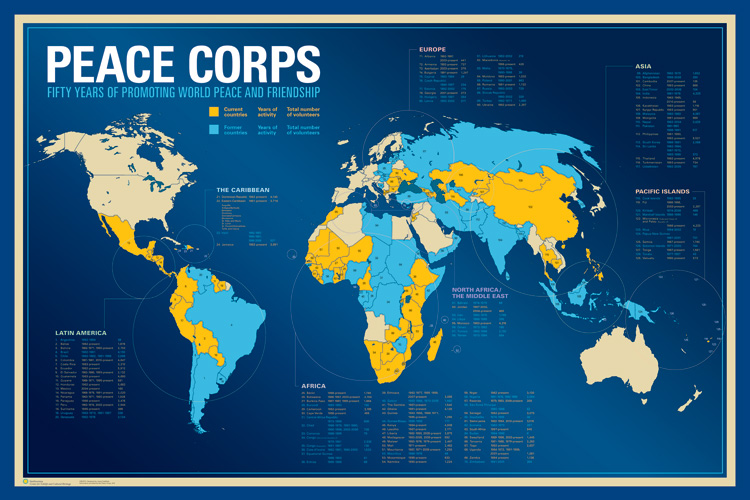 The peace corps around the world smithsonian folklife festival download peace corps map gumiabroncs Images