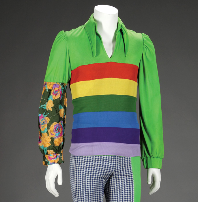 The stage costume worn by Jermaine Jackson of the Jackson Five, circa 1972, is part of the collection of the National Museum of African American History and Culture.