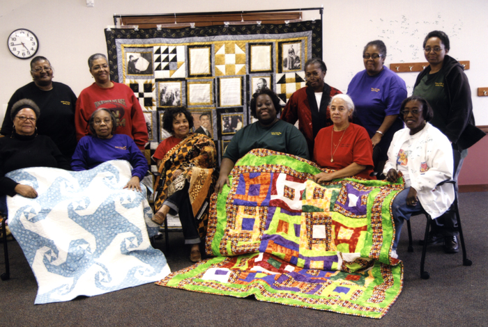 IU's Traditional Arts Indiana trains students to work with folk artists and communities around the state while studying folklore. Pictured here are the Sisters of the Cloth Quilting Guild of Fort Wayne, one of the groups that students have researched.