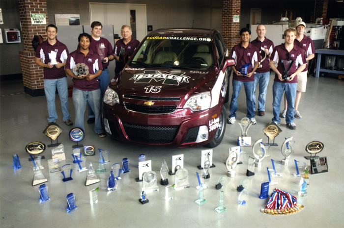 Mississippi State University's EcoCAR has received many national awards.