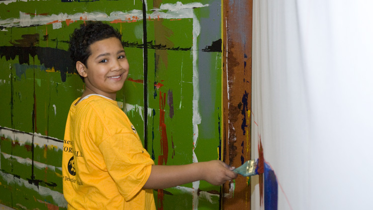 Life Pieces to Masterpieces, an innovative and creative arts-based educational program, was established in 1996 to mentor boys and young men in Washington, D.C. Many of its participants are from Southeast Washington. Photograph by Susana Raab / Anacostia Community Museum