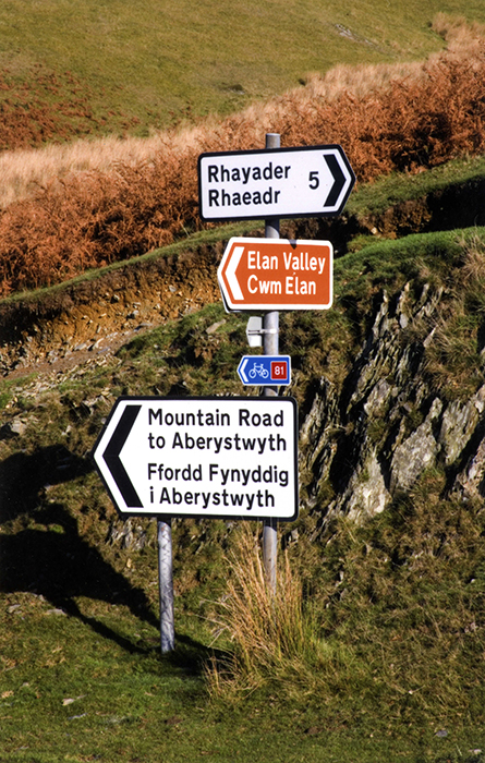 Bilingual signs in Wales.