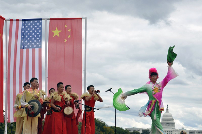 Yue Ying performs at a Chinese Cultural Festival featuring the Anhui Province, Washington, D.C., 2013.