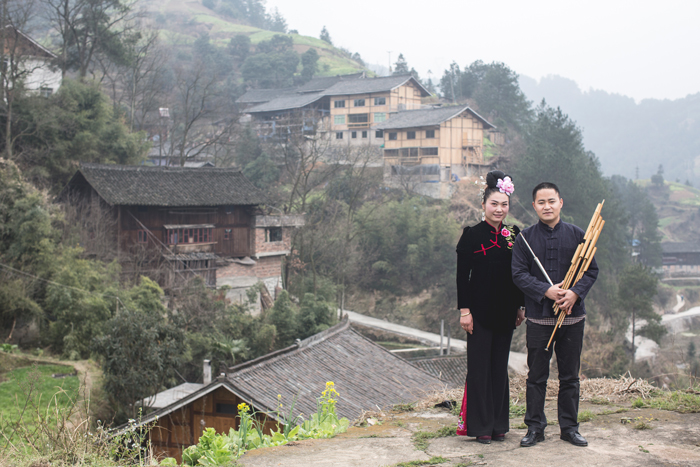 Li Lingting and Mo Ming, Leishan County, Guizhou Province, 2014.