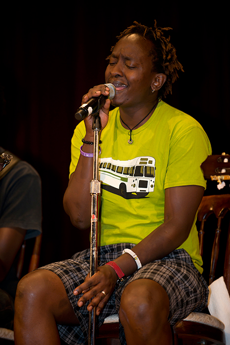 Eric Wainaina performs during an evening concert in the Baird Auditorium, National Museum of Natural History.