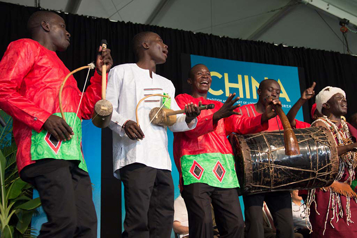 Kenge Kenge joined other musicians from Kenya during the Festival's Opening Ceremony.