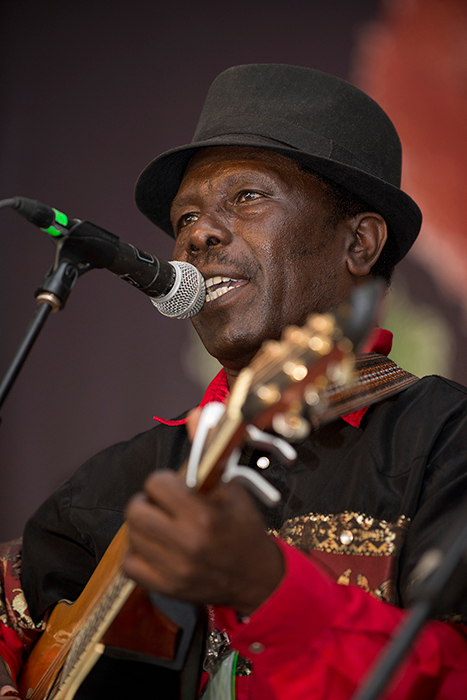 Kikuyu musician Musaimo performs on the Ngoma Stage.