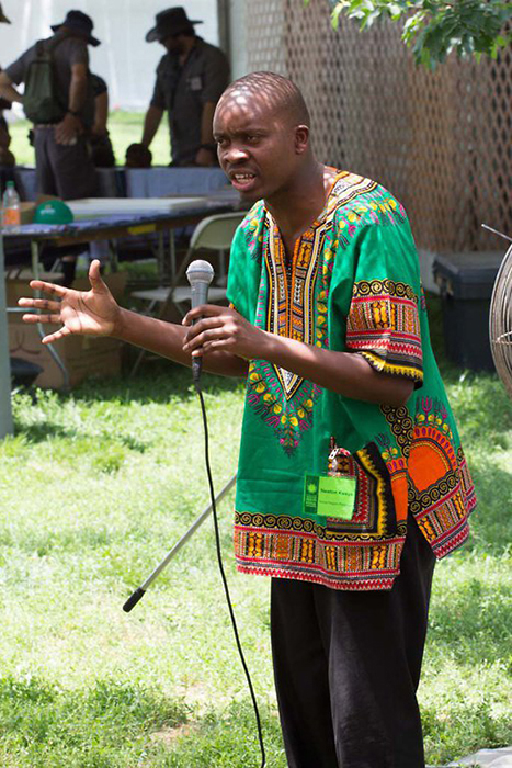 Newton Zadock Kweya uses storytelling as a way to entertain and educate others.