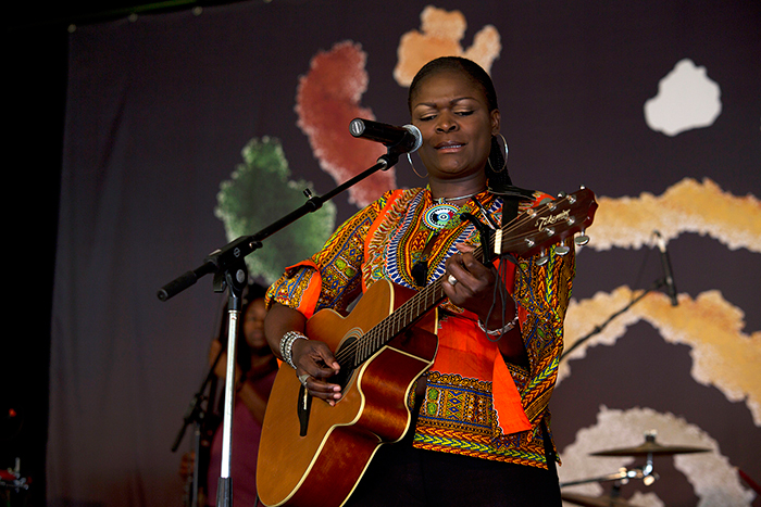 Susan Adhiambo Owiyo (Suzanna Owiyo) takes over the Ngoma Stage.
