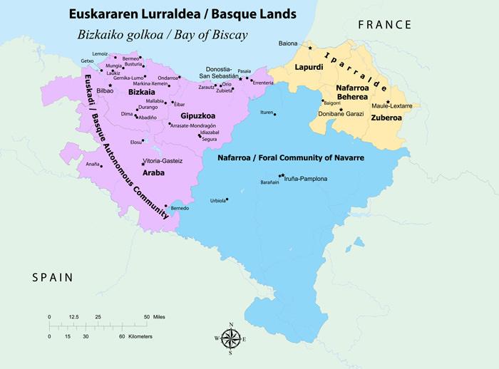 Basque Smithsonian Folklife Festival - Basque centers us map
