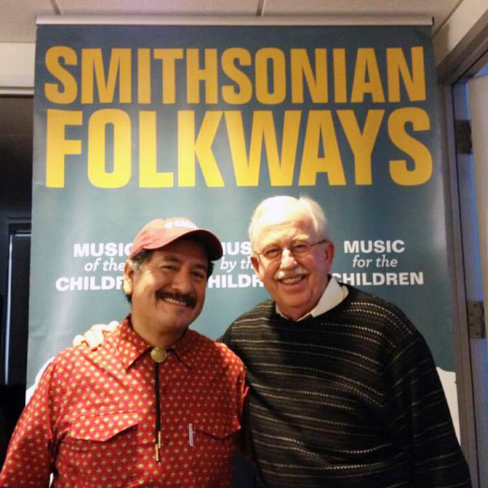 CBetto Arcos with Smithsonian Folkways director Daniel Sheehy.