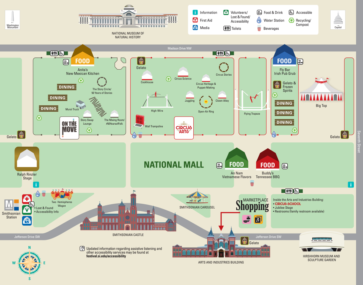 Festival Map Smithsonian Folklife Festival - Us open grounds map