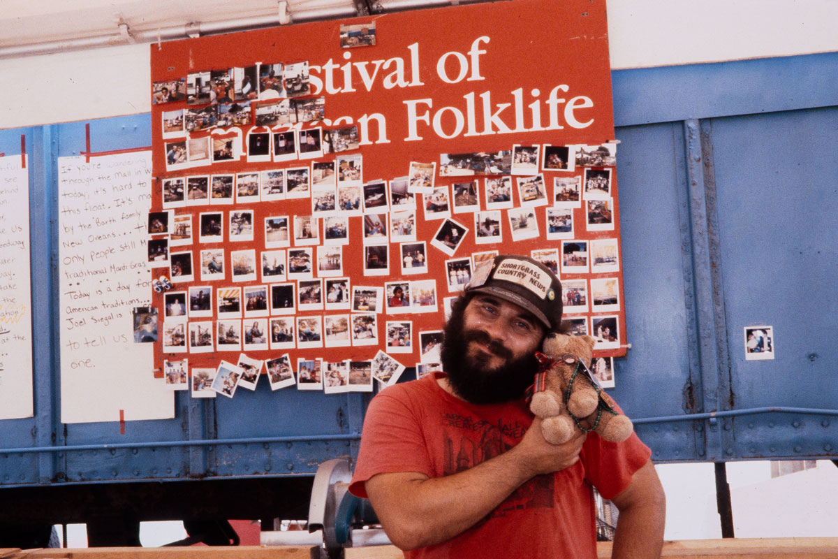 Technical staff member Van Mertz at the 1985 Festival.